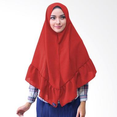 Milyarda Hijab Khimar Aisyah Hijab Instan - Merah
