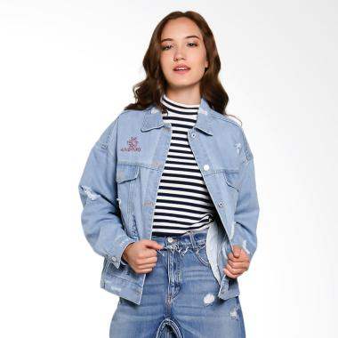 Papercut Fashion GZ 02 No 21 7005 Say Yes Denim Jacket Wanita - Blue
