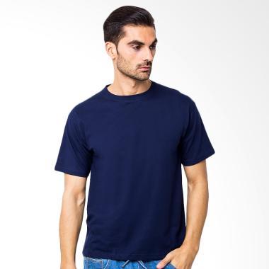 Adhera Clothing Kaos Polos Pria- Biru Navy