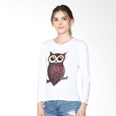 JCLOTHES Kaos Lengan Panjang Wanita OWL - Putih