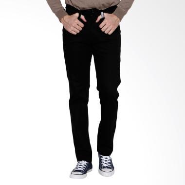 Oliveinch Slim Tapered Basic Long Chino Pants - Black