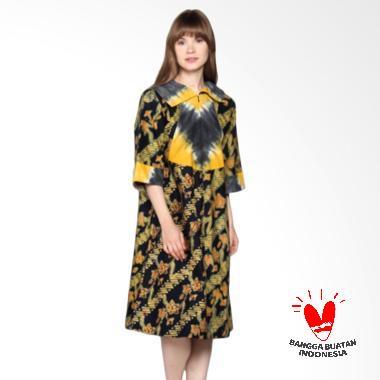 TiTi Co DR003 Batik Dress/Tunik Wanita - Kuning Hijau
