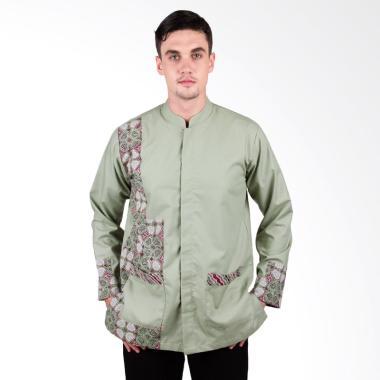 Arya Putra Batik Koko Atasan Pria - Green KKO-004-LG
