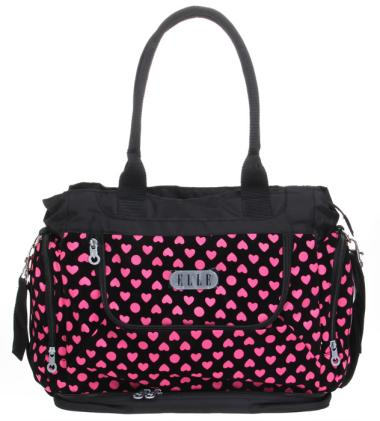 Elle Live Diaper Bag plus Diaper Changing Matt - Heart