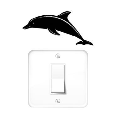 OEM Lumba Lumba Dekorasi Tombol Lampu Saklar Wall Sticker - Hitam