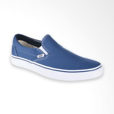 Vans U Classic Slip On Sneaker Shoes Pria - Navy