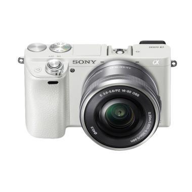Sony Alpha A6000 Digital Camera Mir ... m Power Zoom Lens - White