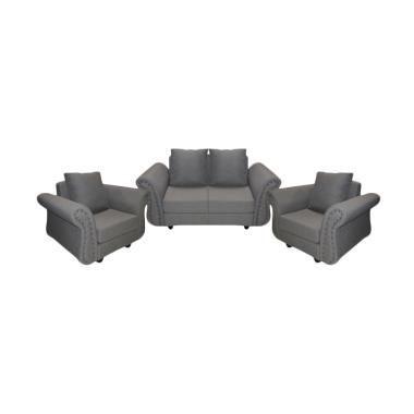 FCENTER Sofa 211 Velona - Grey [ PULAU JAWA*)