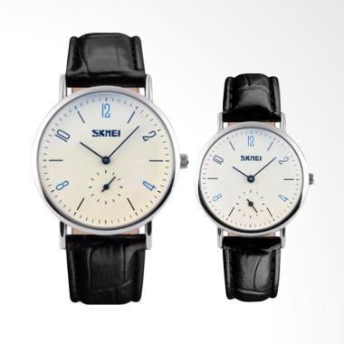 Skmei 9120 Casual Watch Jam Tangan Couple - Putih