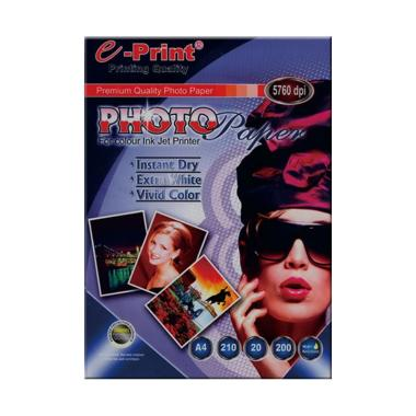 E-Print Glossy Photo Paper Blue A4 Bundling 4Pcs [200 gsm/80 Sheet]