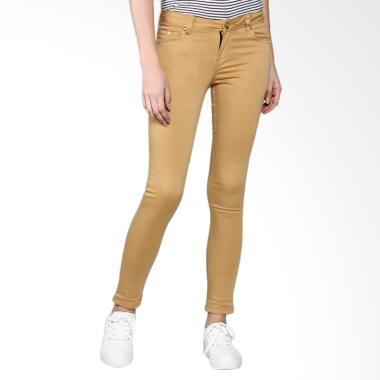 Bronco 2221 Slim Fit Chinos Celana Wanita - Yellow Mustard