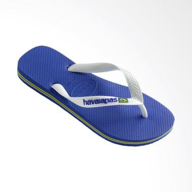 Havaianas Brasil Logo 2711 Sandal Flip Flop Unisex - Marine Blue