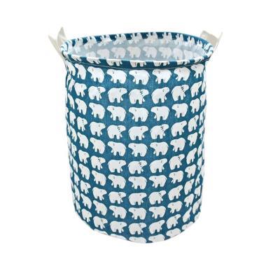 Homestuff Motif Linen Laundry Bag Keranjang