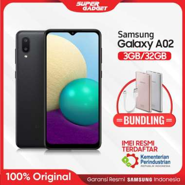 harga Samsung A02 3/32 RAM 3 GB ROM 32 3GB 32GB 3/32 ORIGINAL Garansi Resmi + Bundling Powerbank Samsung Type C 10000 mAh PINK BLACK Blibli.com