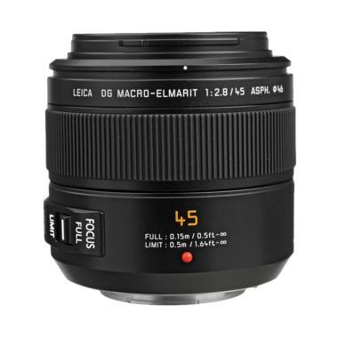 harga KameraKamera Panasonic Lumix Leica DG Macro Elmarit 45mm f/2.8 ASPH Mega O.I.S Lensa Kamera Black Blibli.com