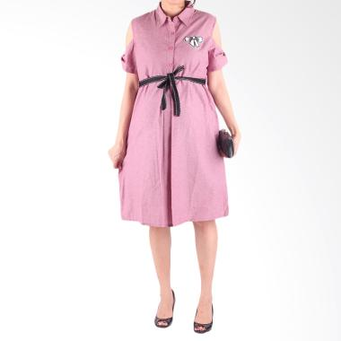 Hmill D1338 Dress Baju Hamil - Pink
