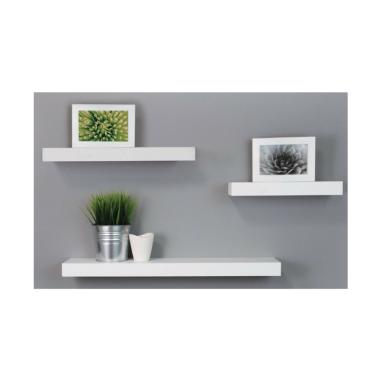 SBF Sakura Floating Shelves Set Rak Dinding - White