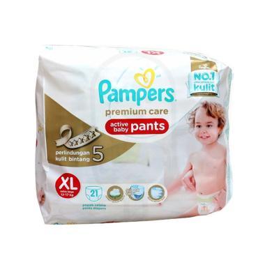 Pampers��Premium Active Baby Pants Popok Bayi [Size XL/21 pcs]