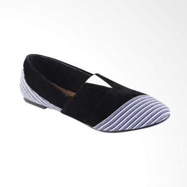 Garsel L548 Fashionable Casual Synthetic Loafer Shoes Wanita - Black