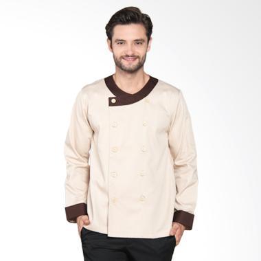 Chef Series Universal Tangan Panjang Baju Koki - Krem [Size XL]