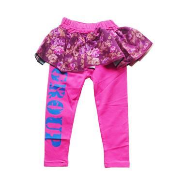 B2W2 Kids Wear Flower Rok Tutu Legging Anak - Fushia Pink