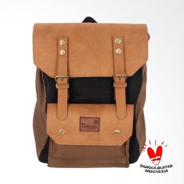 Divinces Backpack Lucia Tas Pria - Coffee dan Khaki 4ea6cd6907