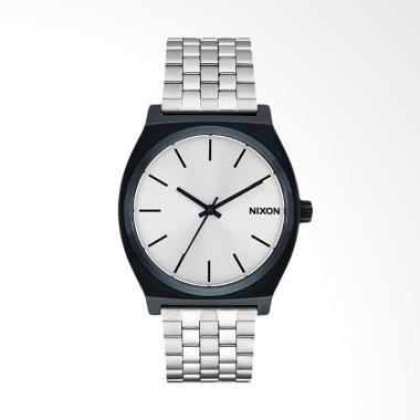 Nixon Time Teller Silver Dial Black ... an Pria - Silver A0451849