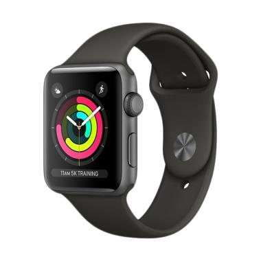 harga Apple Watch Series 3 GPS Space Grey Alum with Sport Band Smartwatch - Grey [38mm] Blibli.com