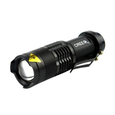 SF002 Cree Q5 Flashlight Senter LED - Black