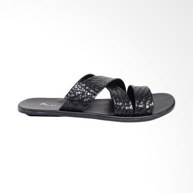 Dr.Kevin Leather Sandals Men - Black 17214