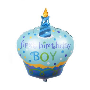 Balonasia Cake Boy Foil Balon - Blue