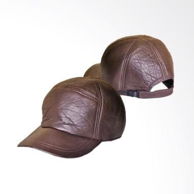 CBR Six Topi Kulit - Brown UUC 007