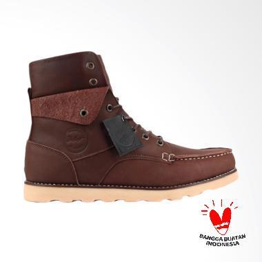 Bradley's bradleys Phantom Sepatu Kulit Pria bradley - Brown