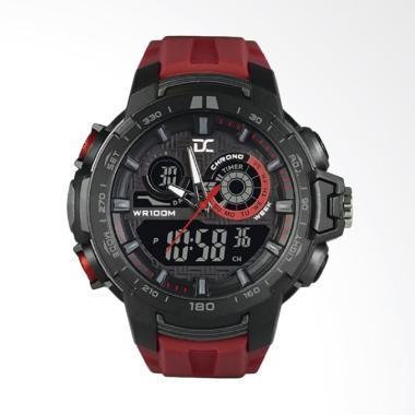 Digitec Jam Tangan Pria - Merah Ring Hitam DA-5003M-8762