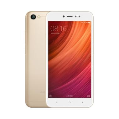 Xiaomi Redmi Note 5A Smartphone - Gold [16GB/2GB] Free Tempered Glass