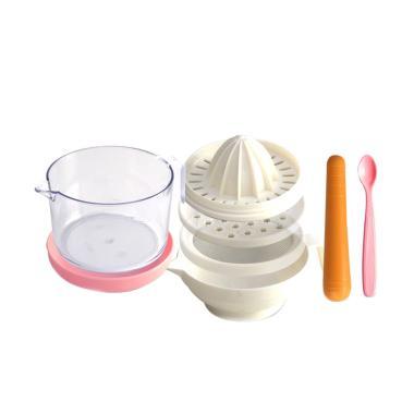LustyBunny Food Processors Set Perlengkapan Makan Anak - Pink