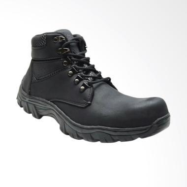 Frandeli Drackor Work Shoes Safety Boots Sepatu Pria - Black