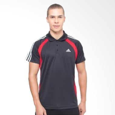 adidas Regular SS Polo Baju Olahraga Pria - Black [D04605]