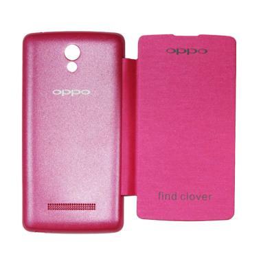 Winner Flip Cover Casing for Oppo R815 Clover Music - Pink