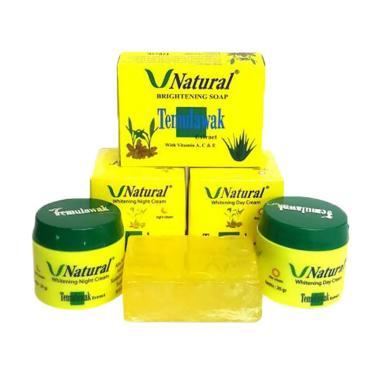 Temulawak V Natural Paket Perawatan Wajah [Cream Siang, Cream Malam dan Sabun]