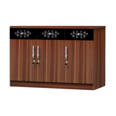 Super furniture KSB 831 Kitchen Set Bawah - Modesto Walnut