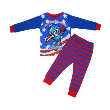 Junior Wardrobe Captain America Setelan Piyama Anak Laki-laki