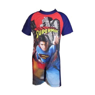 Rainy Collections Karakter Superman ... -Laki - Biru [6-11 Tahun]