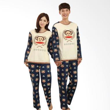 JCFASHION Import Baby Milo Setelan Baju Tidur Couple - Navy