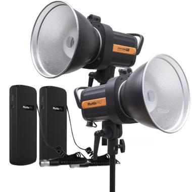 Phottix Indra360 TTL Studio Light with Battery Pack [Dual Kit]