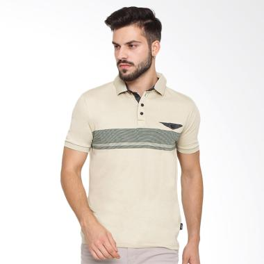 Arnett Fashion Kombinasi Chamb Kaos Polo Pria - Black Green