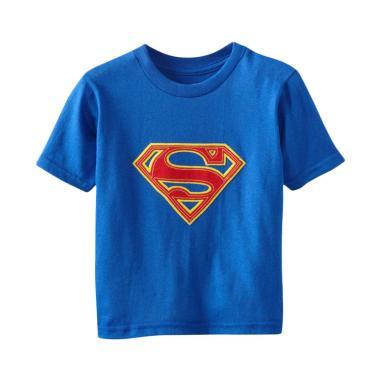 DC Comics Warner Bros Logo Superman Kaos Lengan Pendek