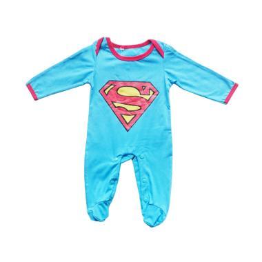 Super Baby Superman Sleepsuit Pakaian Bayi - Blue