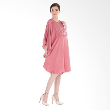 Mamibelle Hanoor Kaftan Mini Dress Ibu Hamil - Pink
