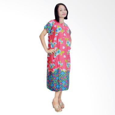 Batik Alhadi DPT001-11E Daster Kancing Baju Tidur Lengan Pendek